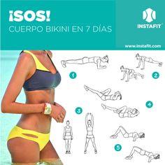 Si se te vinieron las vacaciones encima, mira los ejercicios que debes hacer para que puedas lucir tu bikini favorito la próxima semana.