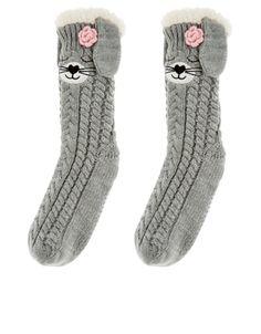 Sleepy Bunny Slipper Socks