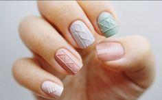 Sweater/Knits Nail Art Ideas