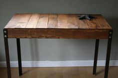 Rustic Reclaimed Wood Desk / Table with Angle by TheSimpleBarn