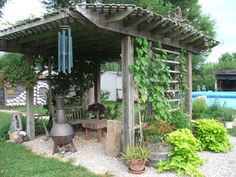 freestanding structure-love! needs old fireplace and hammock or swing