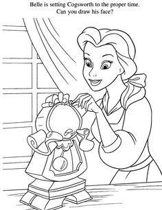 Belle Colouring Sheets Disney Princess