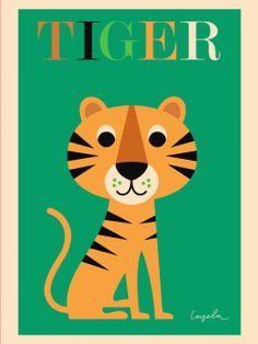 Stampa Tigre- Bimbily