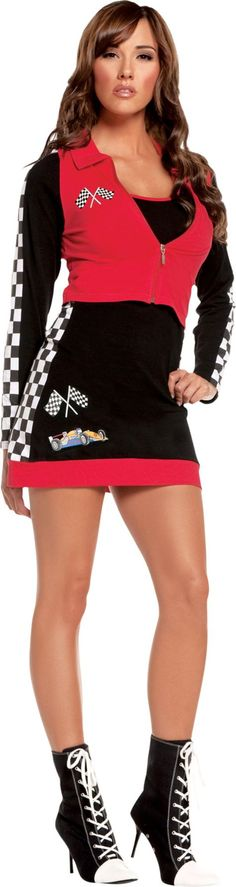 Adult High Speed Hottie Racer Girl Costume - Party City