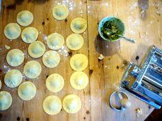 Gluten & dairy free homemade ravioli with cashew nut pesto | Gluten Free Rosie