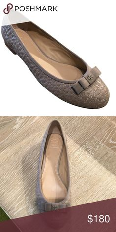 6dc98b5d73a Spotted while shopping on Poshmark  Tory Burch Grey Quilted Bryant Ballet  Flat!  poshmark