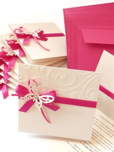 Butterfly themed wedding #invitation from www.violet-weddinginvitations.com