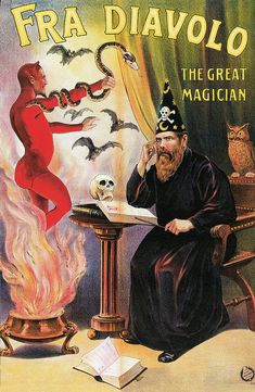 Vintage magician poster.
