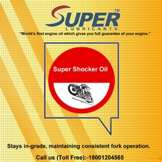 #SuperShockerOil for use in #motorcycle forks and shocks for road, off-road and competition use.For more details visit at:https://goo.gl/vcE39S
