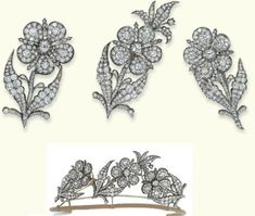 Three Brooches Forming a Tiara  1800  Christie's