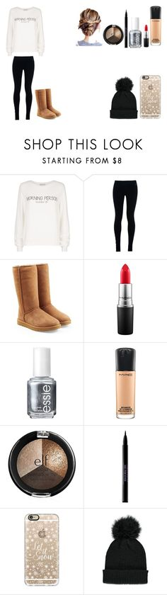 """""""Untitled #396"""" by kalieh092 on Polyvore featuring Wildfox, NIKE, UGG Australia, MAC Cosmetics, Essie, Urban Decay, Casetify and Forever 21"""