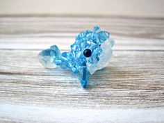 Walter the Blue Whale Swarovki Crystal Beaded by SparkleMeHappy