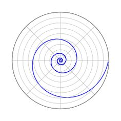 """Logarithmic spiral: """"A logarithmic spiral, equiangular spiral or growth spiral is a special kind of spiral curve which often appears in nature."""" // Seen in: nautilus shell, Romanesco broccoli, weather patterns, space (spiral galaxies)"""