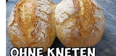 Schnelles Brot ohne kneten (speedy no knead bread) No Knead Bread, Ciabatta, Quick Bread, Food And Drink, Cooking, Ethnic Recipes, Baguette, Youtube, Basket