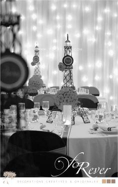 CENTRE DE TABLE PALMIER PLUME FOREVER MARIAGE