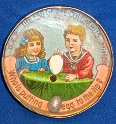 dexterity puzzles germany | RARE 1895 DEXTERITY PUZZLE: THE EGG OF THE COLUMBUS: D.R.G.M AND D.R.P