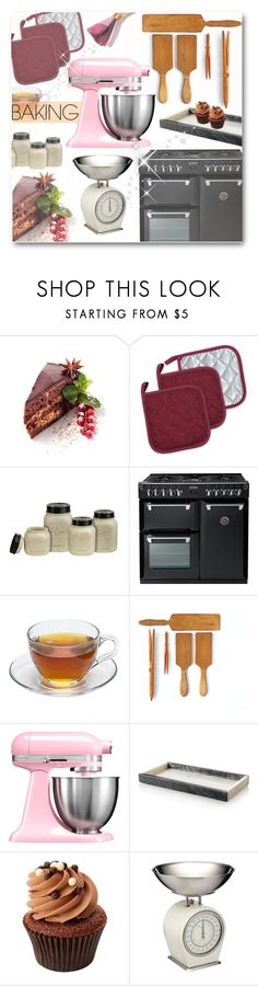 """""""Let's Get Baking"""" by matildiwinky ❤ liked on Polyvore featuring interior, interiors, interior design, home, home decor, interior decorating, 7X7 and KitchenAid"""