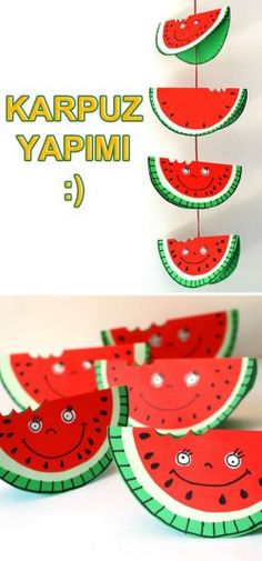 Top 20 Fun Watermelon Craft Ideas Perfect for Summer : Watermelon is what summer is all about and these Watermelon Craft Ideas are the perfect way to celebrate! Enjoy these Creative watermelon project tutorials. Watermelon Crafts, Fruit Crafts, Preschool Crafts, Diy Crafts For Kids, Craft Ideas, Pumpkin Art, Paper Plate Crafts, Classroom Crafts, Summer Crafts