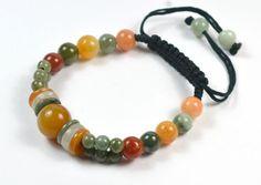 Elegant Women Jade Bracelet Bracelet, Jade Beads 3 to 12 mm, Adjustable Brown Cord 7-10 inches - Feng Shui Fortune Jewelry by Feng Shui & Fortune Jewelry, http://www.amazon.co.uk/dp/B00ENIN98U/ref=cm_sw_r_pi_dp_-SOesb1S2G29T