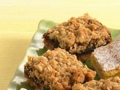 Date Bars; when I was a child my mother used to buy a Betty Crocker mix called Date Nut Bars and bake them.  It was fantastic.  I can't wait to make these and see if they taste like what I remember.