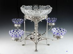 1801 English Silver Crystal Epergne