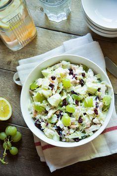 Een lekkere, frisse, zomerse, knapperige-en-toch-sappige salade met witte…
