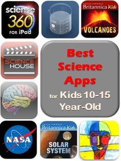 Best science apps for kids 10-15 year old (upper elementary and middle school) from iGameMom -- read them as multimedia books, explore ideas of hands-on science activities, fun for both classroom and home.