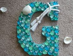The Beach House: Coastal Letter Mermaid Bathroom Decor, Mermaid Room, Mermaid Diy, Beach Crafts, Crafts To Do, Decor Crafts, Mermaid Birthday Outfit, Nautical Christmas, Sea Glass Crafts