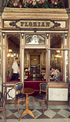 Caffe Florian, Venice, Italy, www.caffeflorian.com/. Our tips for 25 places to visit in Italy: http://www.europealacarte.co.uk/blog/2012/01/12/what-to-do-in-italy/