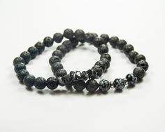 Perseverance - Snowflake Obsidian - Essential Oil diffuser by GemsdeVine on Etsy