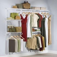 Closet Organizer Shelf Storage Rack Shelves Wardrobe 4 To 8 Foot Hanger #Rubbermaid