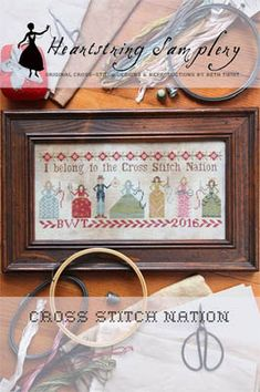 HEARTSTRING SAMPLERY Cross Stitch Nation Beth Twist counted cross stitch patterns Mother's Day cross stitcher embroidery by thecottageneedle