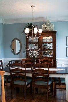 Blue dining room - Valspar Seaside Villa paint.