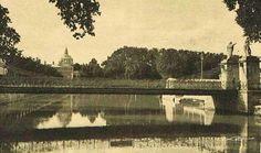 Puente Colgante o Colgado de Aranjuez en 1935