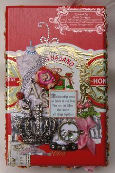 The Flamingo Chronicals: Girlfriends Cigar Box Cigar Box Projects, Cigar Box Crafts, Diy Projects, Cigar Box Art, Cigar Box Purse, Altered Cigar Boxes, Woodworking Box, Pretty Box, Altered Art