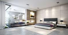 Ein helles Grau wirkt im Schlafzimmer sehr freundlich