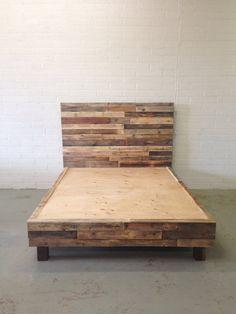 reciclado de madera cama de plataforma plataforma base naturales gemelo completo reina rey cali rey cabina de casa de playa de california…