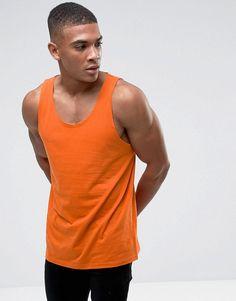 ASOS Skater Tank In Orange - Orange