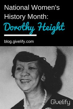 In our new blog post for Women's History Month, learn about Dorothy Height, unsung hero of the U.S. Civil Rights Movement: http://blog.givelify.com/national-womens-history-month-dorothy-height