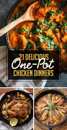tastes like chicken... but actually http://www.buzzfeed.com/melissaharrison/one-pot-chicken-dinners?crlt.pid=camp.zCLWv5o86kxn