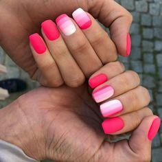 matte pink nails as prom manicure Matte Pink Nails, Pink Acrylic Nails, Trendy Nail Art, Stylish Nails, Spring Nail Colors, Spring Nails, Pink Summer Nails, Colorful Nail Designs, Nail Art Designs