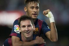 Neymar y Messi Lionel Messi, Messi Y Neymar, Messi And Ronaldo, Fc Barcelona, Barcelona Futbol Club, Soccer Tumblr, Inspirational Soccer Quotes, Best Duos, Good Soccer Players