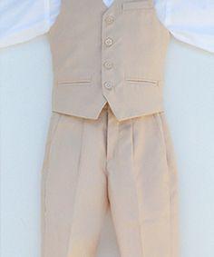 Beige Boys Suit  #boyssuit #vestsuit #kidsuit #boysvestsuit #kidsvestsuit #beigesuit #beigeboyssuit #boysvintagesuit #boysretrosuit