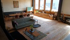 sometimes i dream about living in a loft or an incredibly open space. Living Room Photos, Living Room Colors, Living Room Designs, Living Place, Interior Decorating, Interior Design, Beautiful Living Rooms, Wood Accents, Portland Oregon