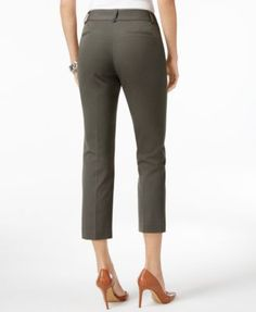 Alfani Cropped Skinny Pants, Only at Macy's - Green 6
