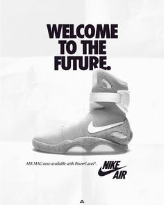 official photos c4a27 661ba What Todays Nike Shoes Would Look Like in Vintage Ads Nike Air Mag, Nike  Air