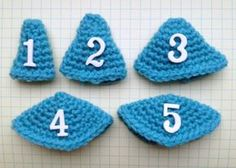 Crochet tech tips on shaping Amigurumi. Cones of various shapes based on the number of increases per round.