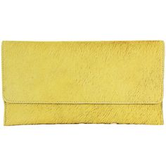 Latico Furbulous Clutch - Yellow - Clutches (6.990 RUB) ❤ liked on Polyvore featuring bags, handbags, clutches, yellow, yellow clutches, latico handbags, magnetic closure handbags, yellow handbags and latico purses