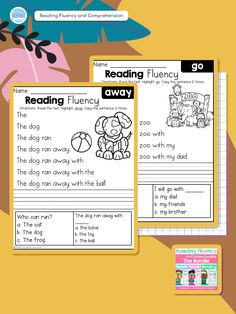Reading Fluency and Comprehension is a fantastic way for students to practice reading, writing, sight words, and fluency. Make learning fun and engaging!  . .  .  .  #teachingbiilfizzcend #teachingbiilfizzcendproducts #kindergarten #firstgrade #sightwords #teacherspayteachers #tpt #tptseller #tptteachers #iteachtoo #iteachfirst #teachersofig #teachersfollowteachers #iteachk #earlychildhood #earlychildhoodeducation #backtoschool First Grade Writing, First Grade Math, Homeschool Kindergarten, Kindergarten Literacy, Teaching Resources, Teaching Ideas, Thing 1, Sight Word Activities, Struggling Readers