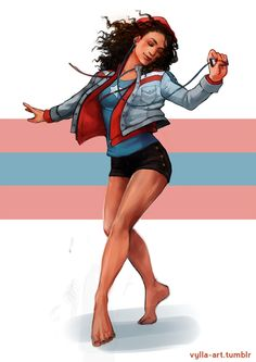 America Chavez by Risa Hulett Marvel Dc Comics, Marvel Comic Universe, Marvel Cinematic Universe, Marvel Avengers, Marvel Women, Marvel Girls, Digimon, America Chavez, Ms America